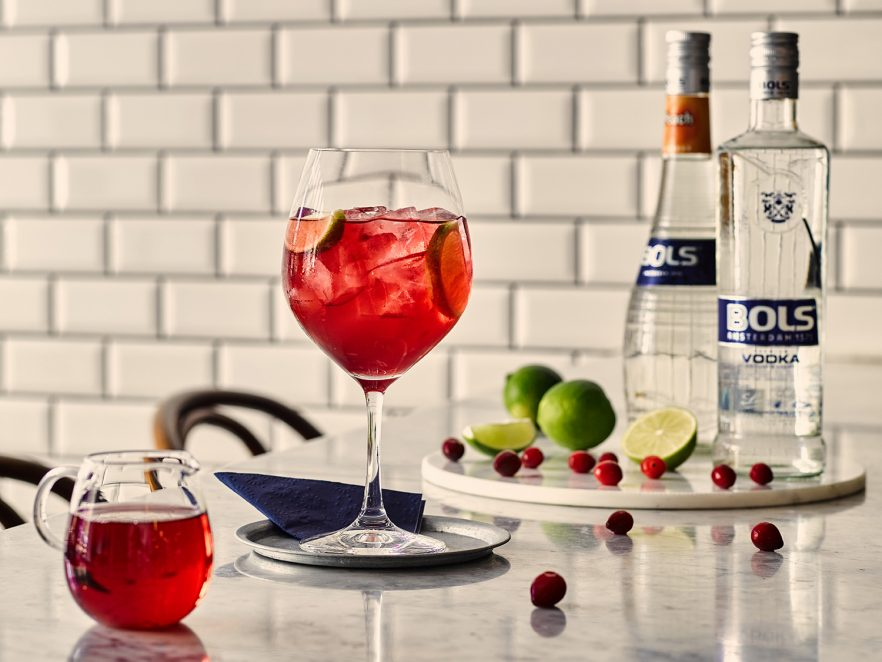 Bols Cranberry Kiss cocktail