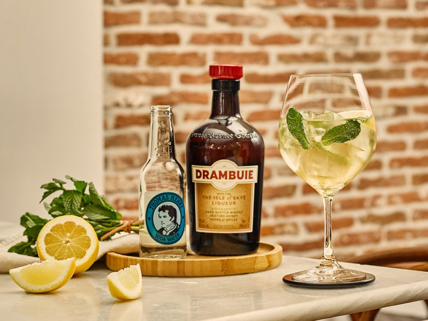 Drambuie Collins cocktail