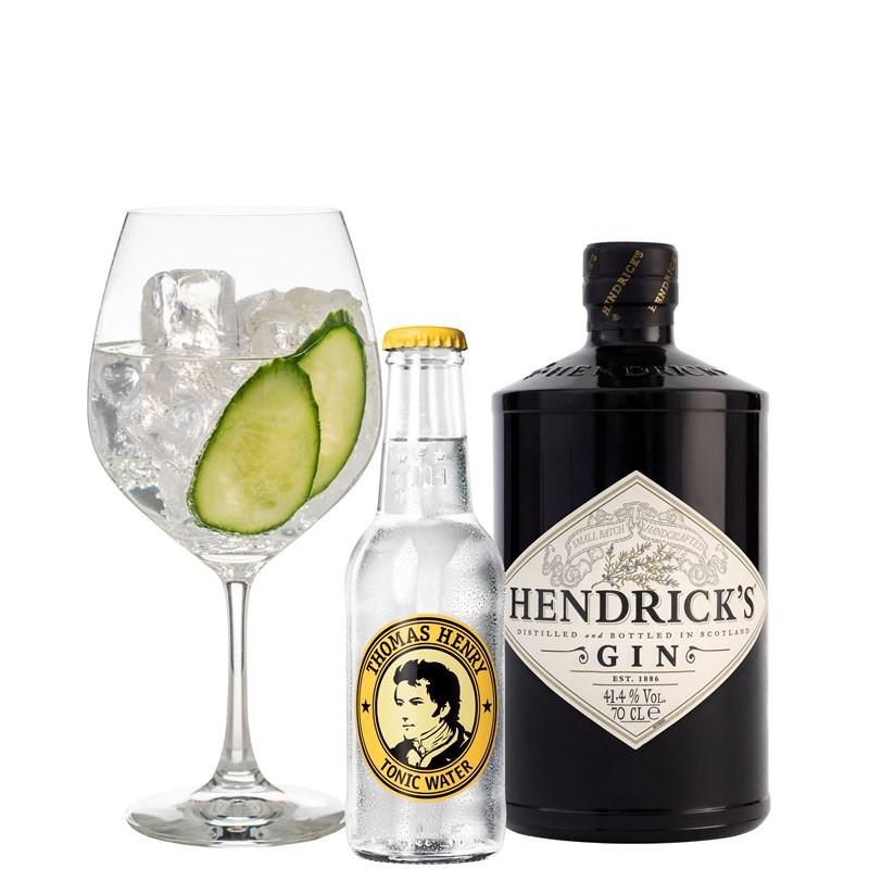 Hendrick's Gin en tonic cocktail